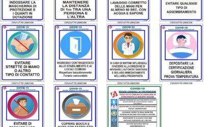 Cartellonistica di informazione COVID-19